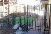 metal residential fence construction
